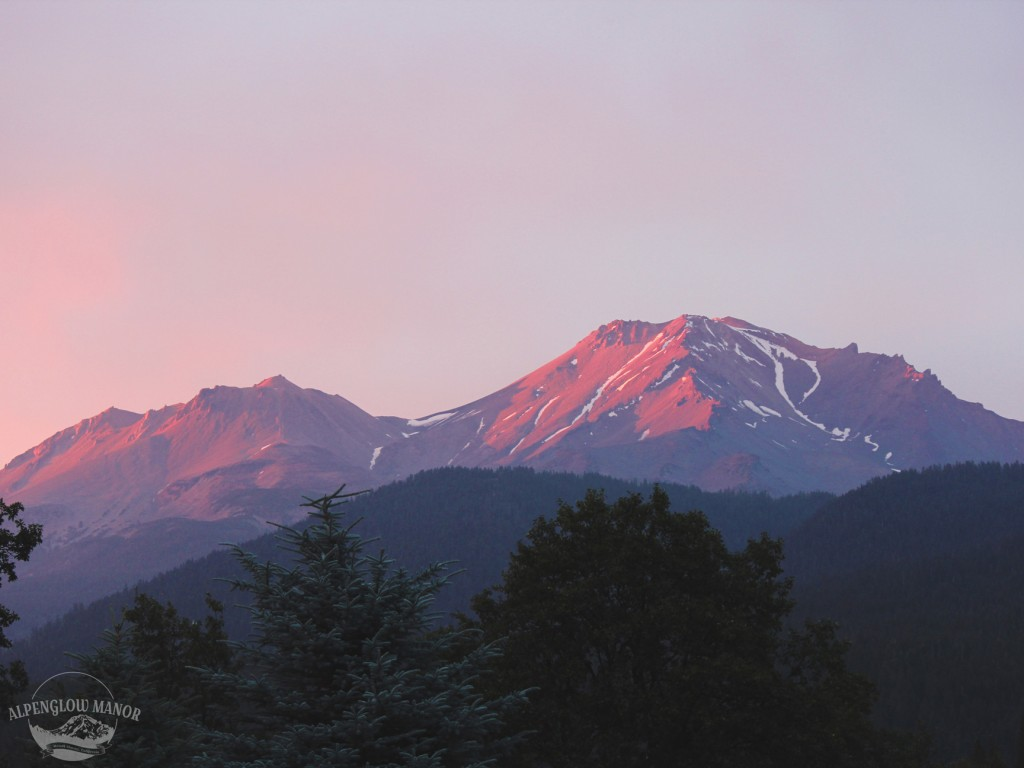 View of the alpenglow from the property
